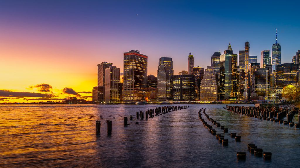 new york, skyline, city